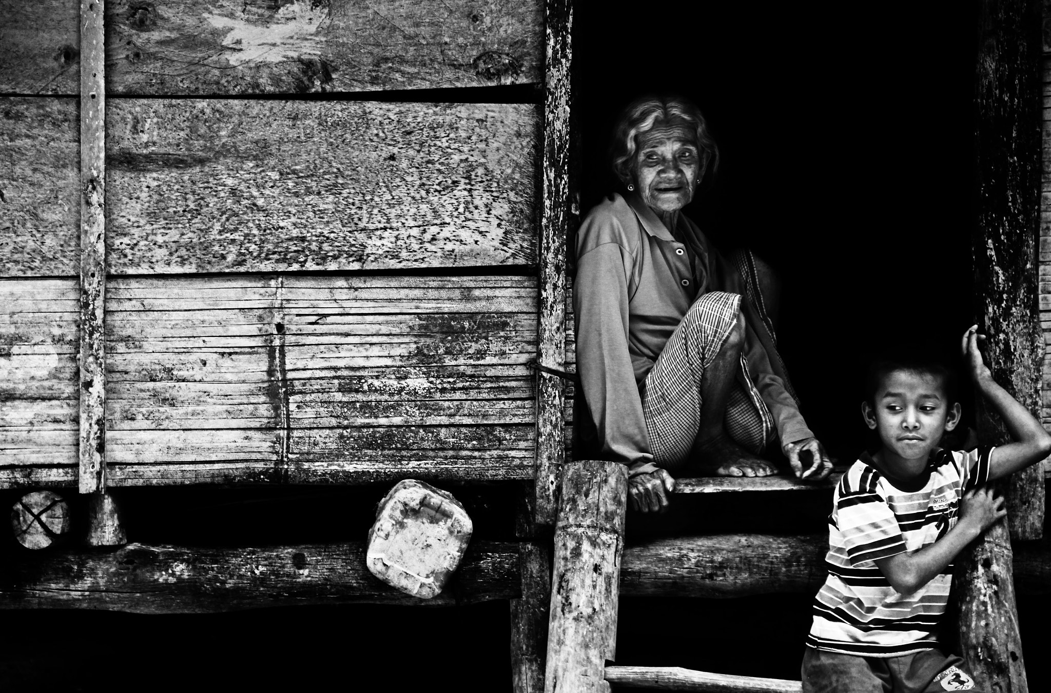 Photograph grandmother and grandson by Muhammad Iqbal on 500px