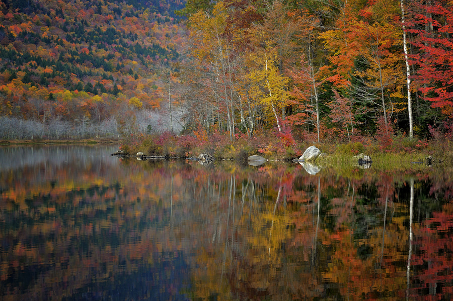 The Basin is a section of Evan's Notch in western Maine.