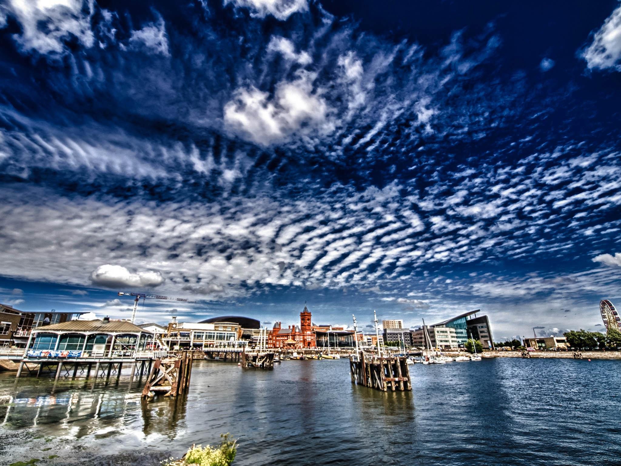 Photograph Clouds over Cardiff Bay... by Hugh Jones on 500px