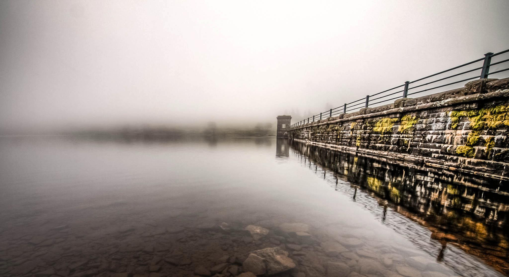 Photograph Gwyrne Fawr, Brecon Beacons, Wales: reservoir in the mist. This mist appeared from nowhere, and in t by Hugh Jones on 500px