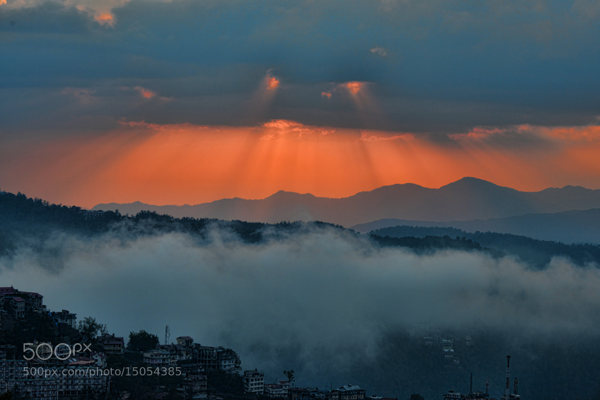 Photograph  sunset in shimla, Himachal during Monsoon by b sekhar on 500px