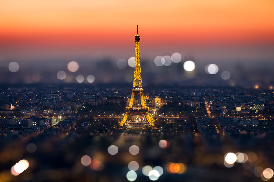 Sunset on Eiffel Tower by Frédéric MONIN on 500px.com