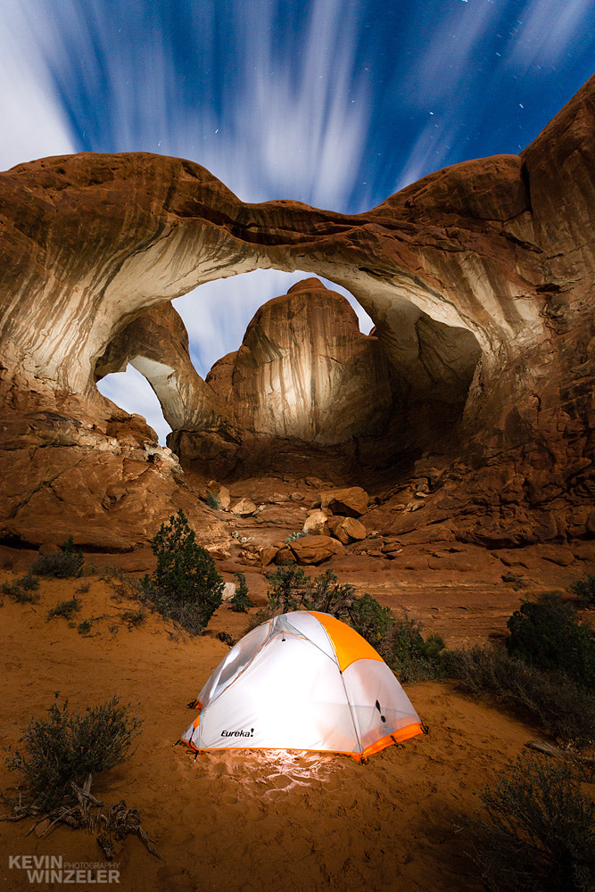 Photograph Dreaming of Arches - Camping  by KevinWinzeler.com  ~ sports, lifestyle on 500px