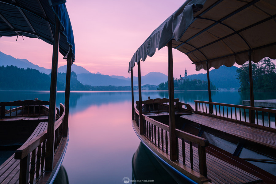 Lake Bled at dawn by Luka Esenko on 500px.com