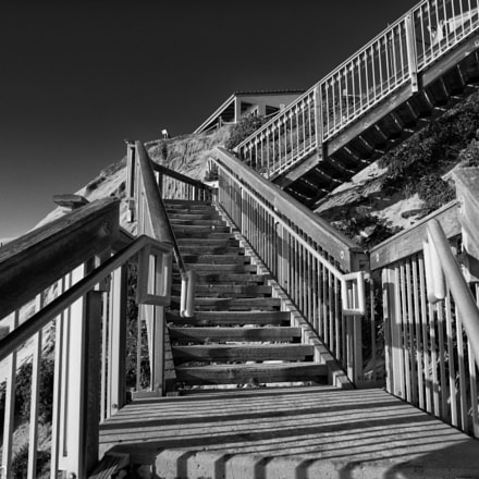 Stairway from beach, Sony ILCE-7RM2, Sigma 24mm F1.8 EX DG ASP Macro