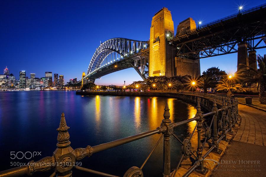 Photograph Sydney Harbour Dusk by Drew Hopper on 500px