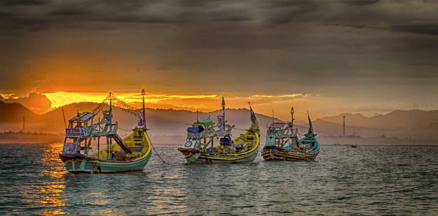 Photograph Papuma Boats by Sanya Ad on 500px