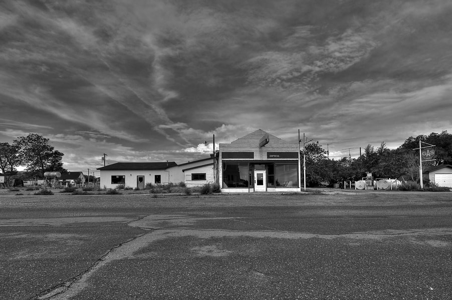 Photograph Gas Station, Empress Alberta by mike pedersen on 500px