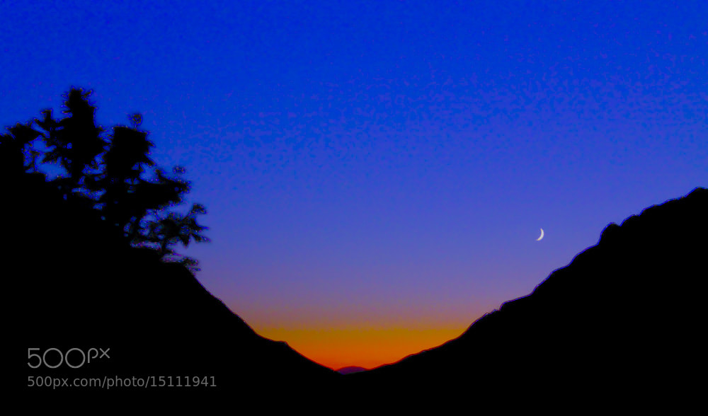 Photograph Sunset and Moon by Homa BahramParvar on 500px