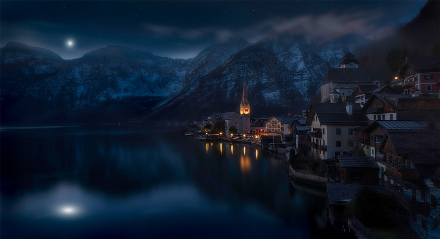 Moonlit Hallstadt by Tom Anderson on 500px.com