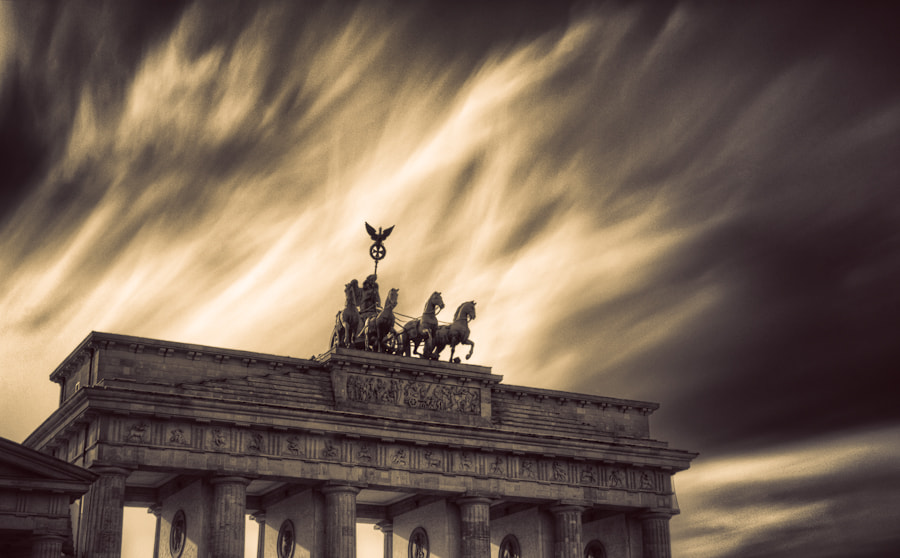 Photograph Skies over Brandenburg Gate by Max Vysota on 500px