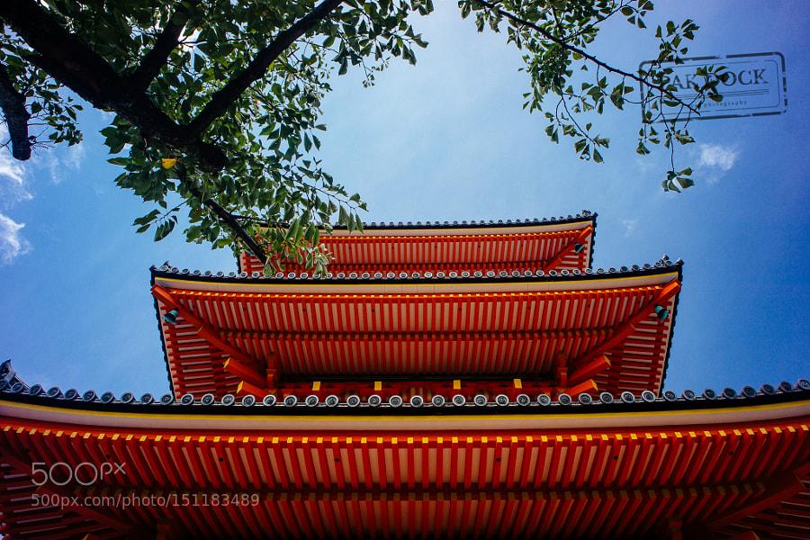 Red pagoda in Kiyomizudera - Kyoto