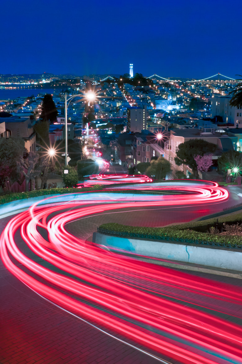 Photograph Lights of Lombard, SF, Ca by jared ropelato on 500px