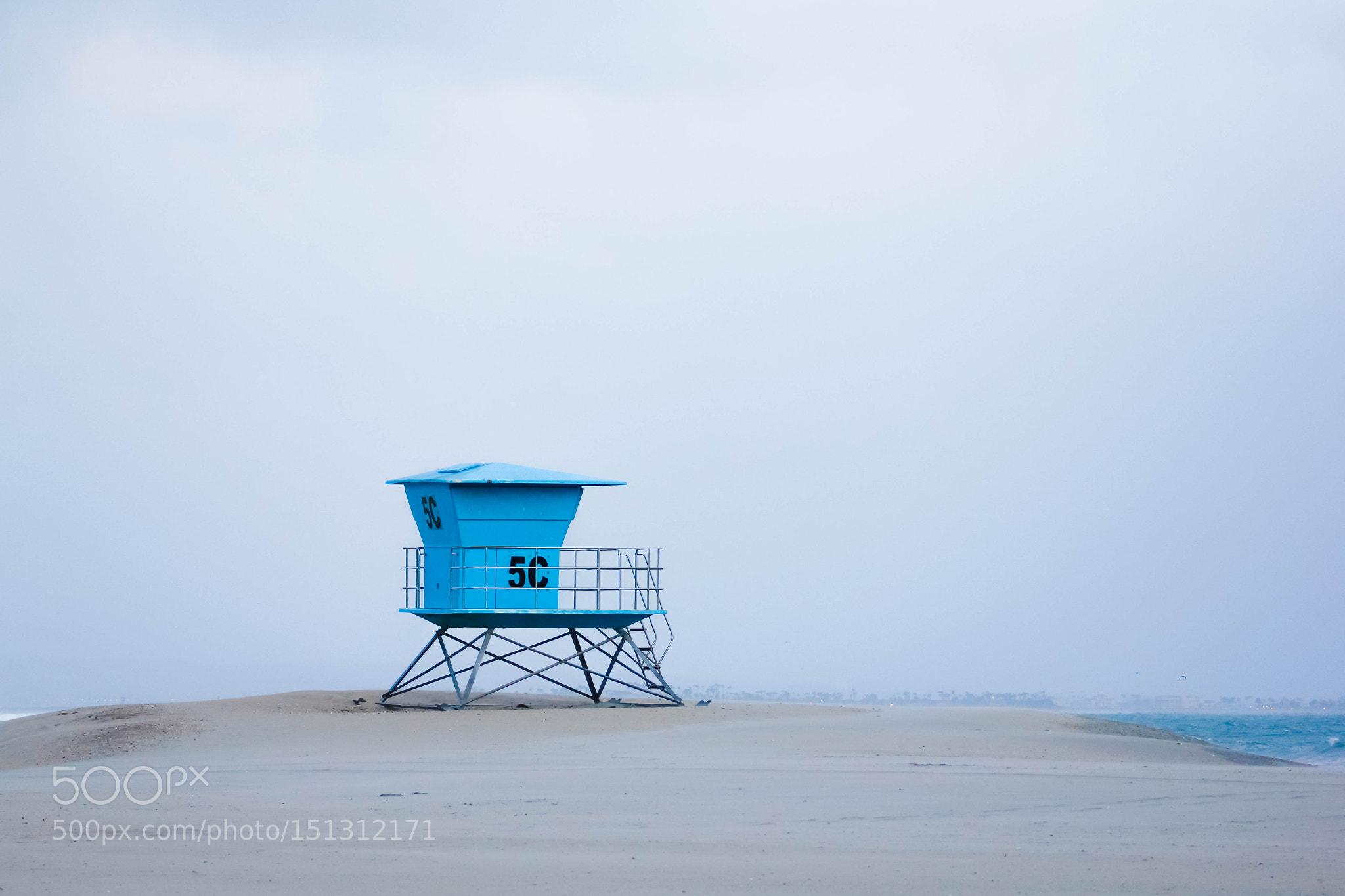 Lonely watchtower on Coronado Beach, San Diego, Southern California