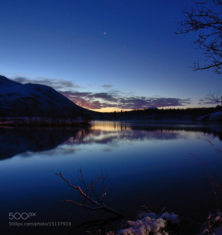 """Photograph Blue hour at """"Fiskelausvannet"""" in Troms by John Hemmingsen on 500px"""