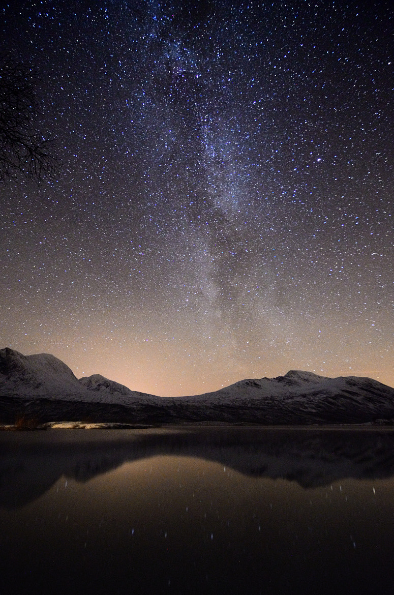 Photograph Starry sky in Troms, Norway by John Hemmingsen on 500px
