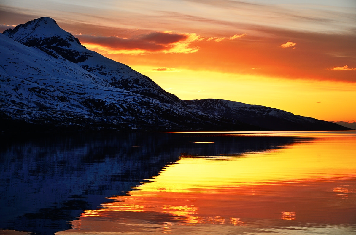Photograph Sunset reflections in Kaldfjord by John Hemmingsen on 500px
