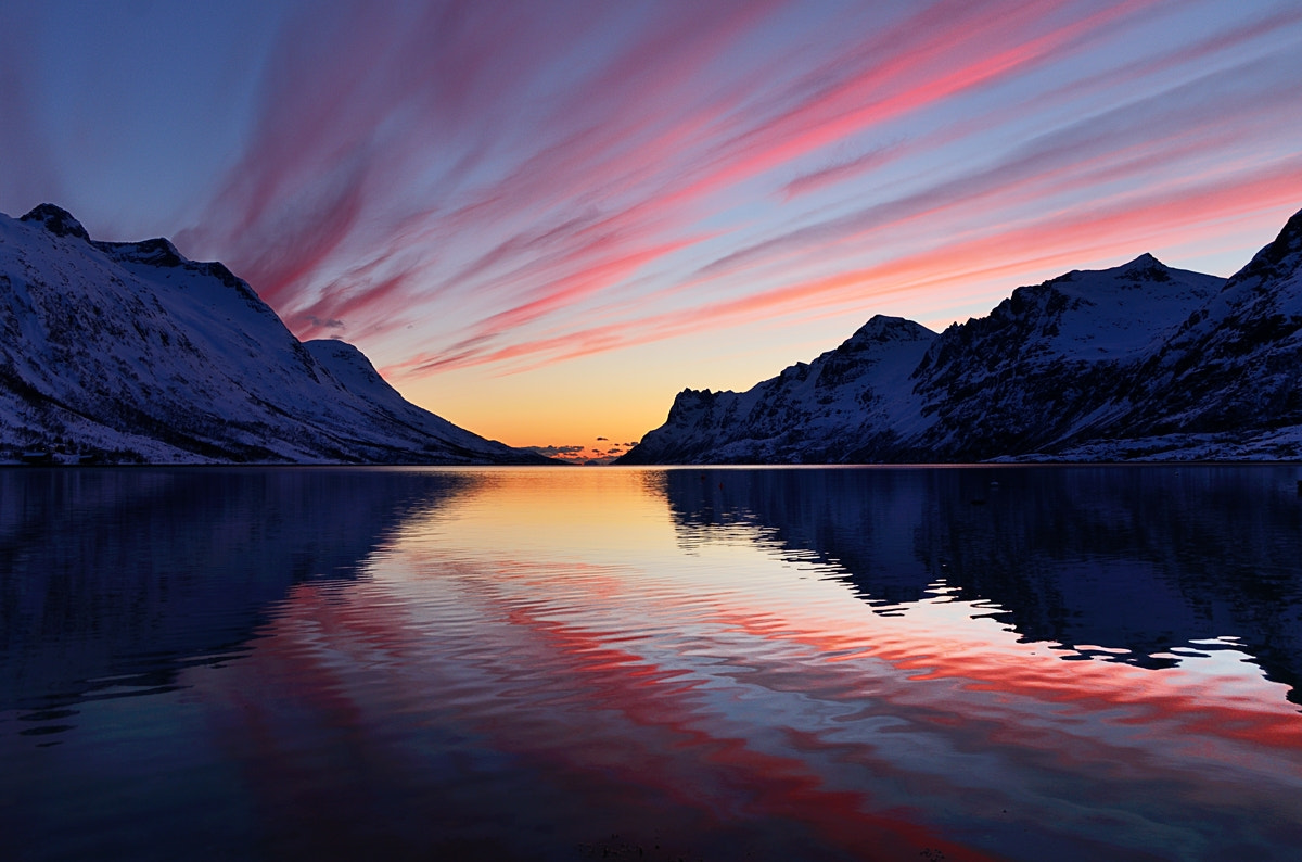 Photograph Red sunset in Ersfjordbotn by John Hemmingsen on 500px