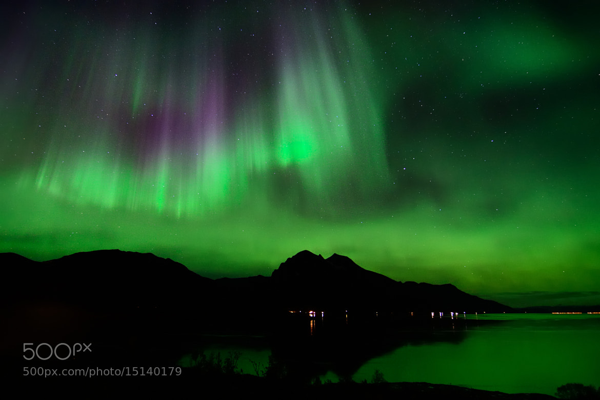 Photograph Night sky in arctic Norway by John Hemmingsen on 500px