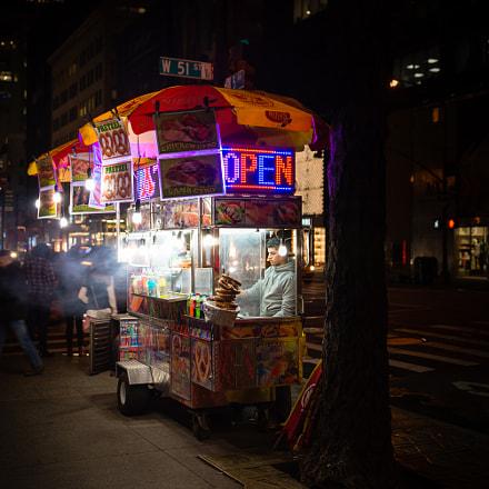 Hot Dog Cart - New York City, USA