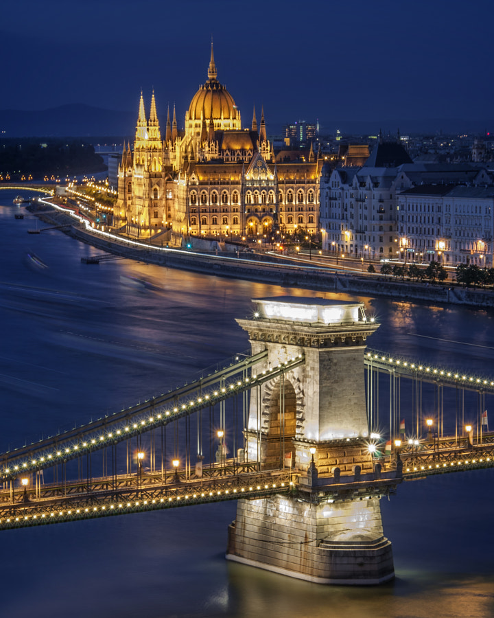 Chain Bridge and Hungarian Parliament by Sasa Petrovic on 500px.com
