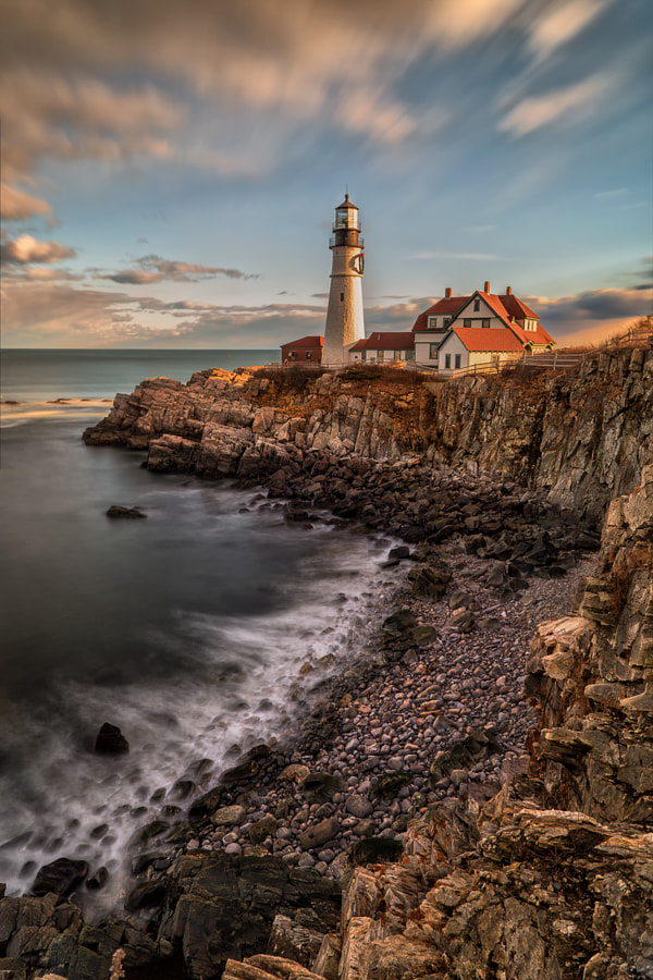 Sunset at Portland Head Light by Saptashaw Chakraborty on 500px.com