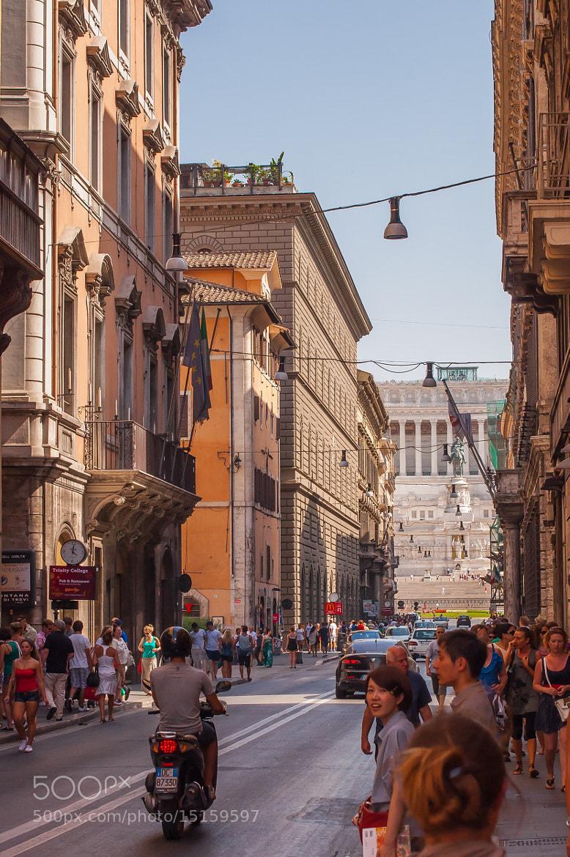 Photograph Via del corso by serge vincent on 500px