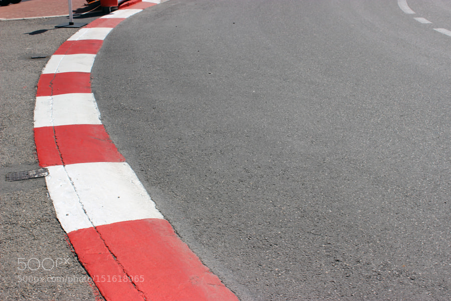 Texture of Motor Race Asphalt and Curb on Monaco GP by SibuetBenjamin