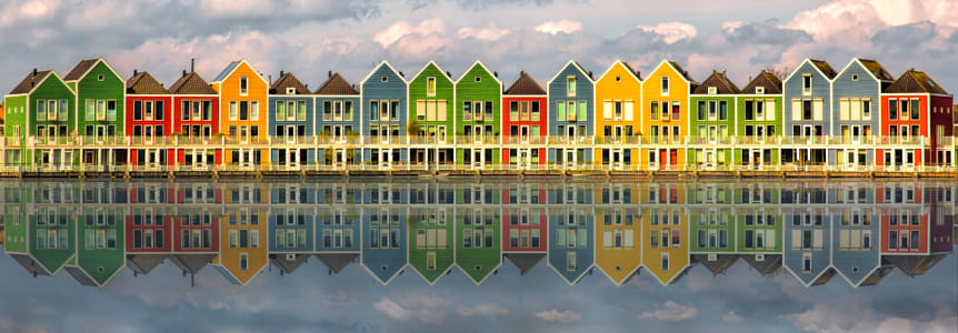 The colorful houses of Houten by 500px on 500px