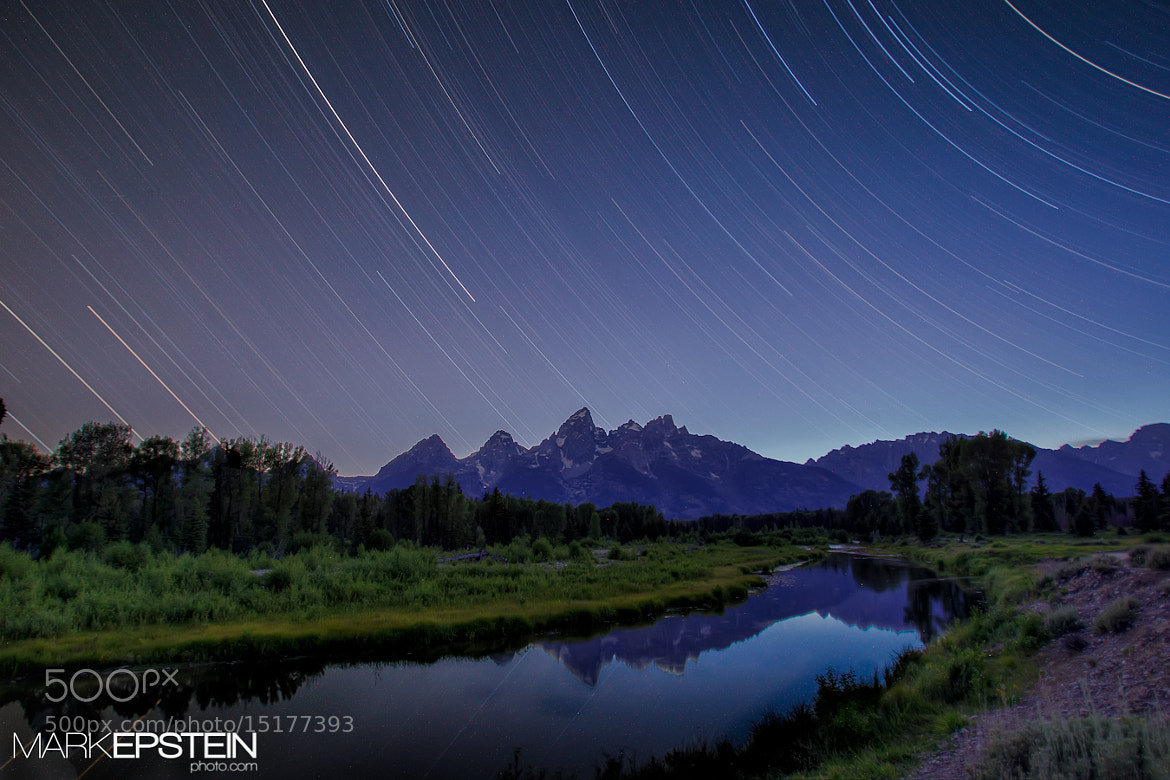 Photograph Star Trails Over the Tetons by Mark Epstein on 500px