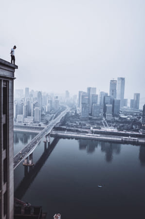 Lone Figure Surveying the City by 500px on 500px