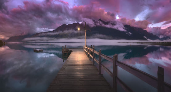Pink Sunrise at Glenorchy by 500px on 500px