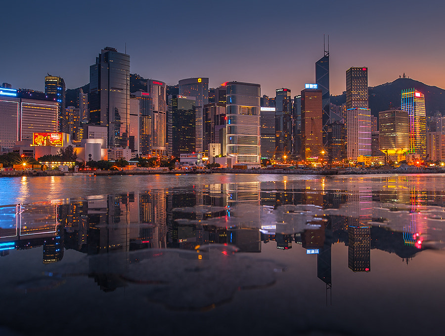 Photograph HKG promenade reflection by Coolbiere. A. on 500px