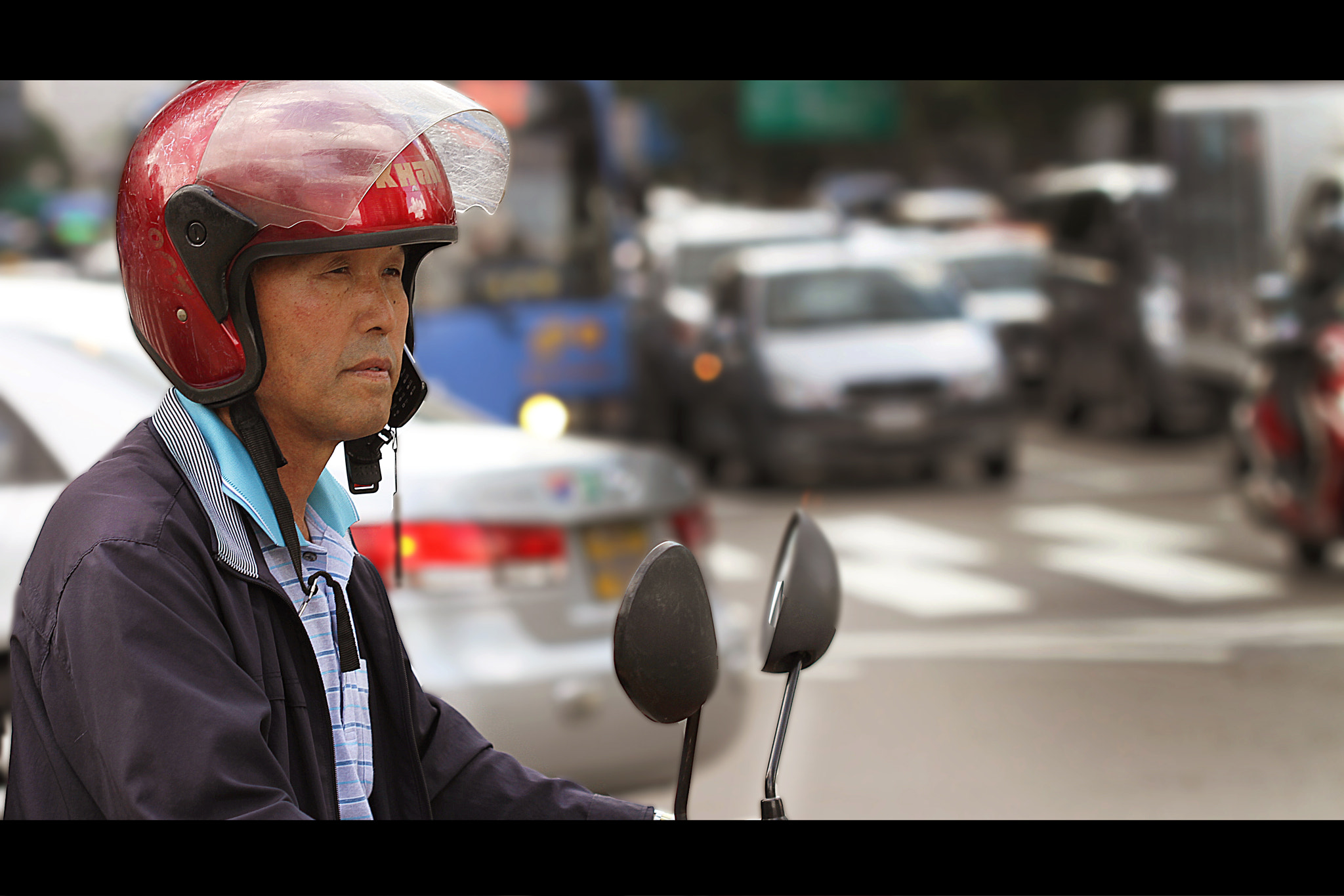 Photograph Seoul street - On his moped by L'Oiseau Rose on 500px