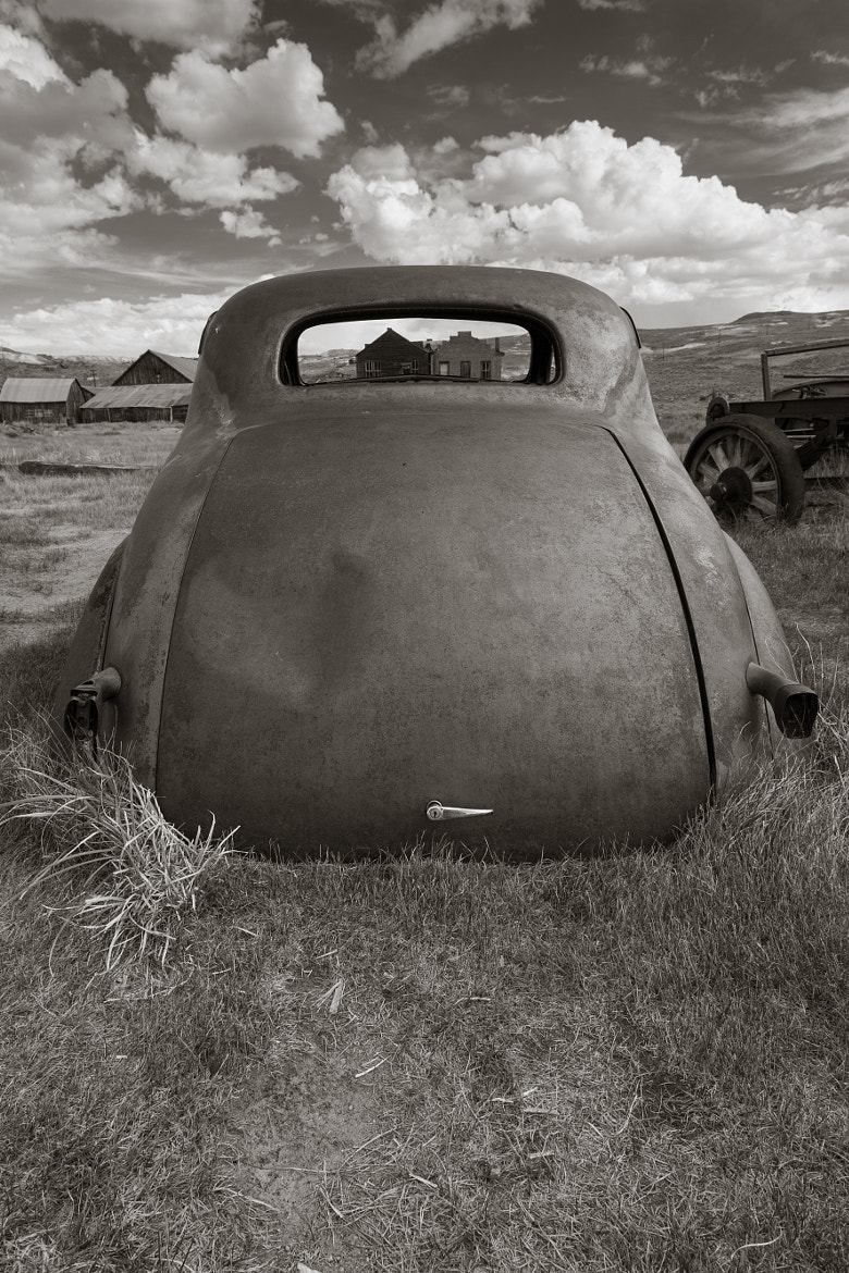 Photograph Bodie California 1937 Chevy back window by Brandon Falls on 500px