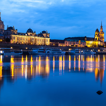 Twilight (Blue Hour) at Dresden.