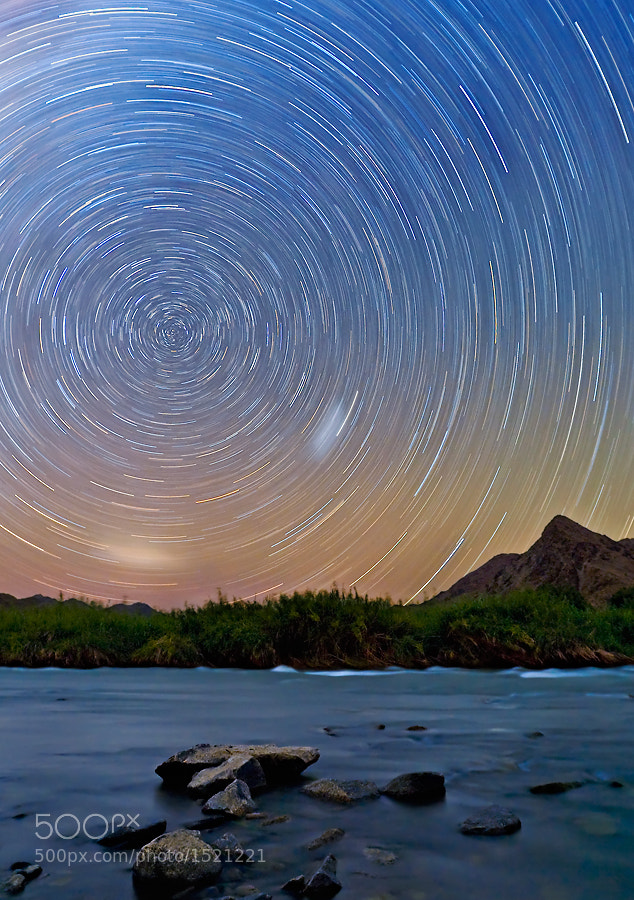 Photograph Orange River Star Trail by Basie van Zyl on 500px