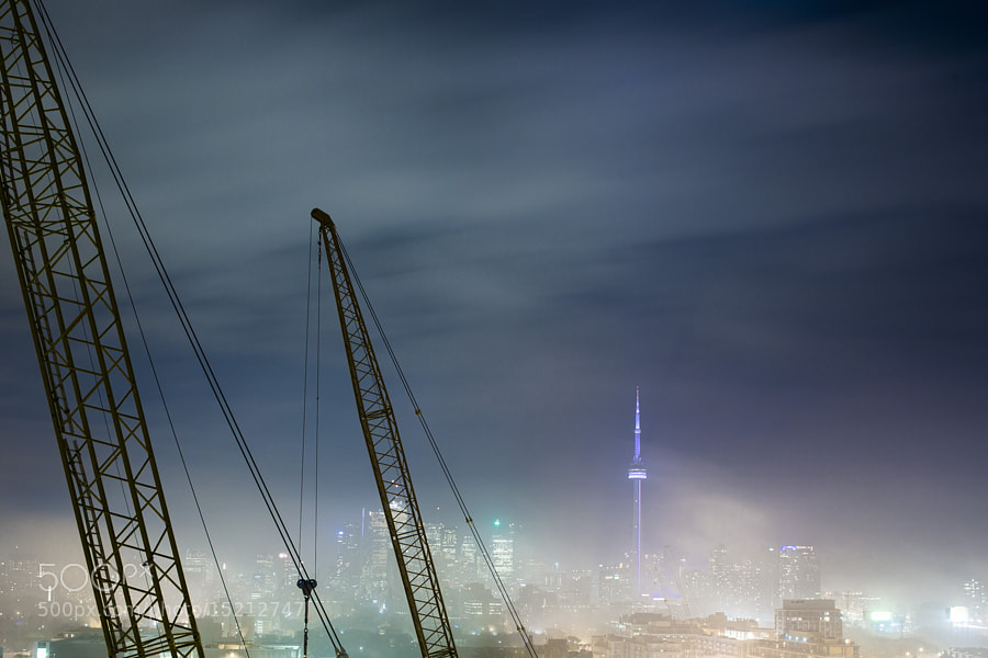 Toronto Skyline and Fog by Richard Gottardo (RichardGottardo) on 500px.com