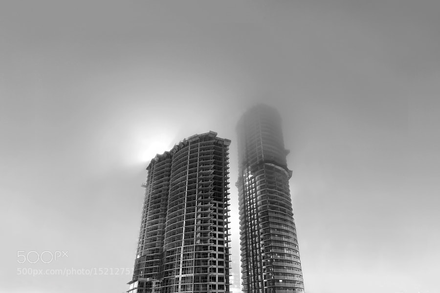 Condos in Fog by Richard Gottardo (RichardGottardo) on 500px.com