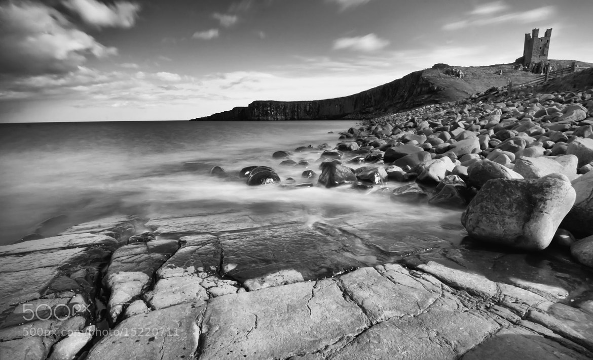 Photograph Dunstanburgh Castle B&W by Gail Sparks on 500px