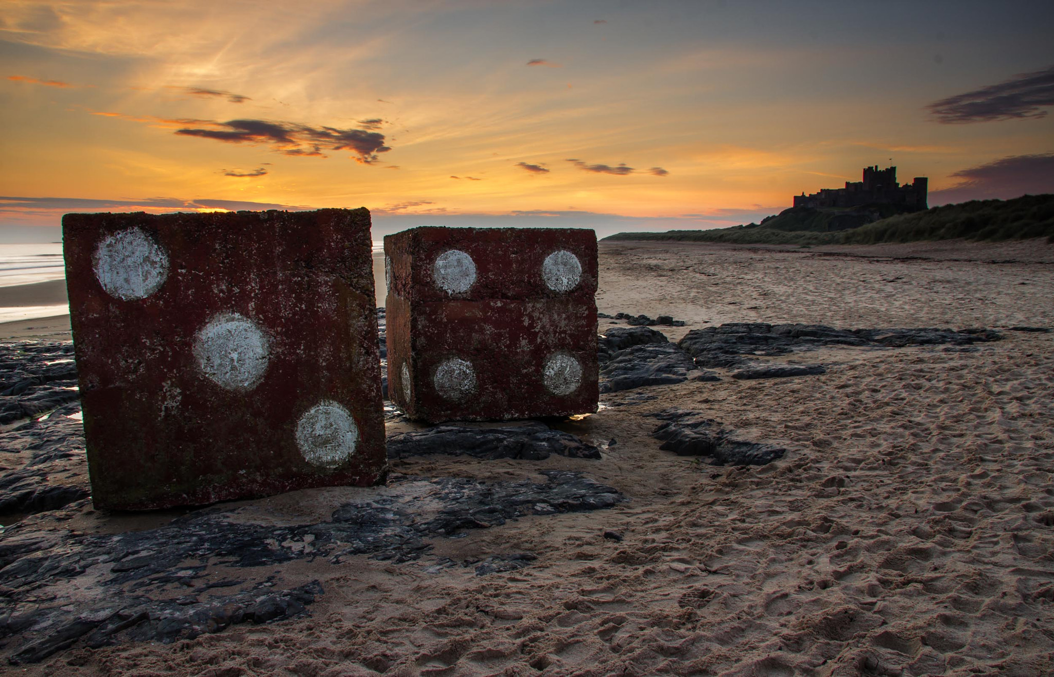 Photograph Bamburgh Dice by Gail Sparks on 500px