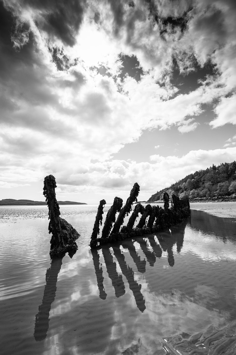 Photograph Ancient shipwreck at low tide by Richard McGuire on 500px
