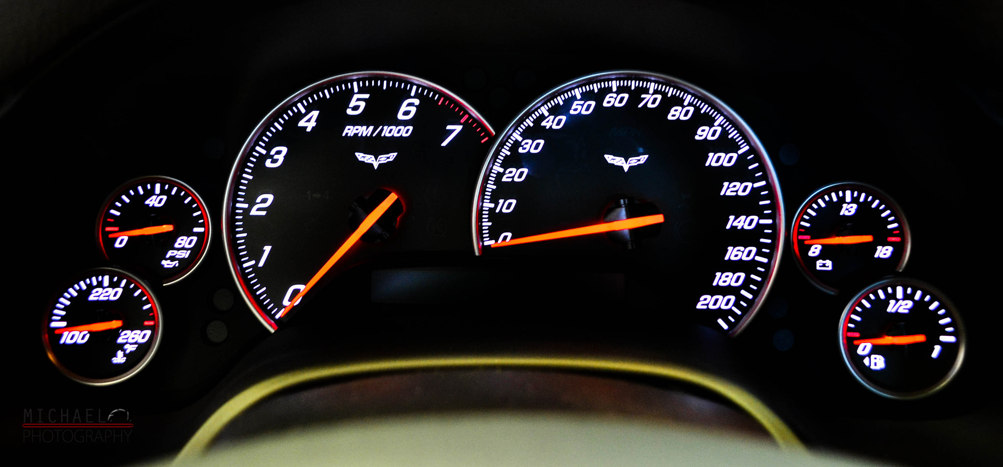 Photograph A Vette Cluster Guage by Ryan Garza on 500px