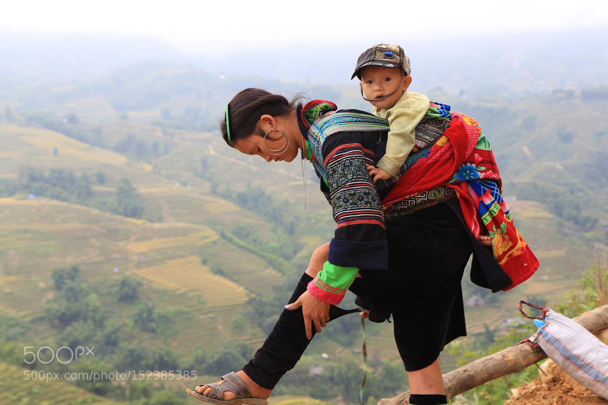 Mother and child. Lao Chai village, Vietnam