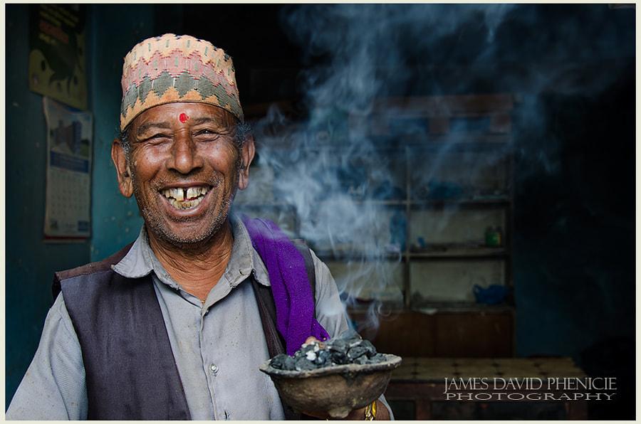 Faces of Nepal:  Smoke
