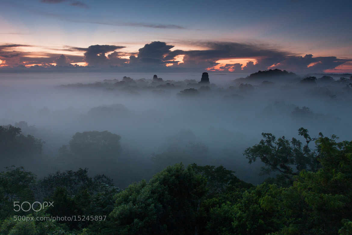 Photograph Tikal sunrise by Brendon Doran on 500px