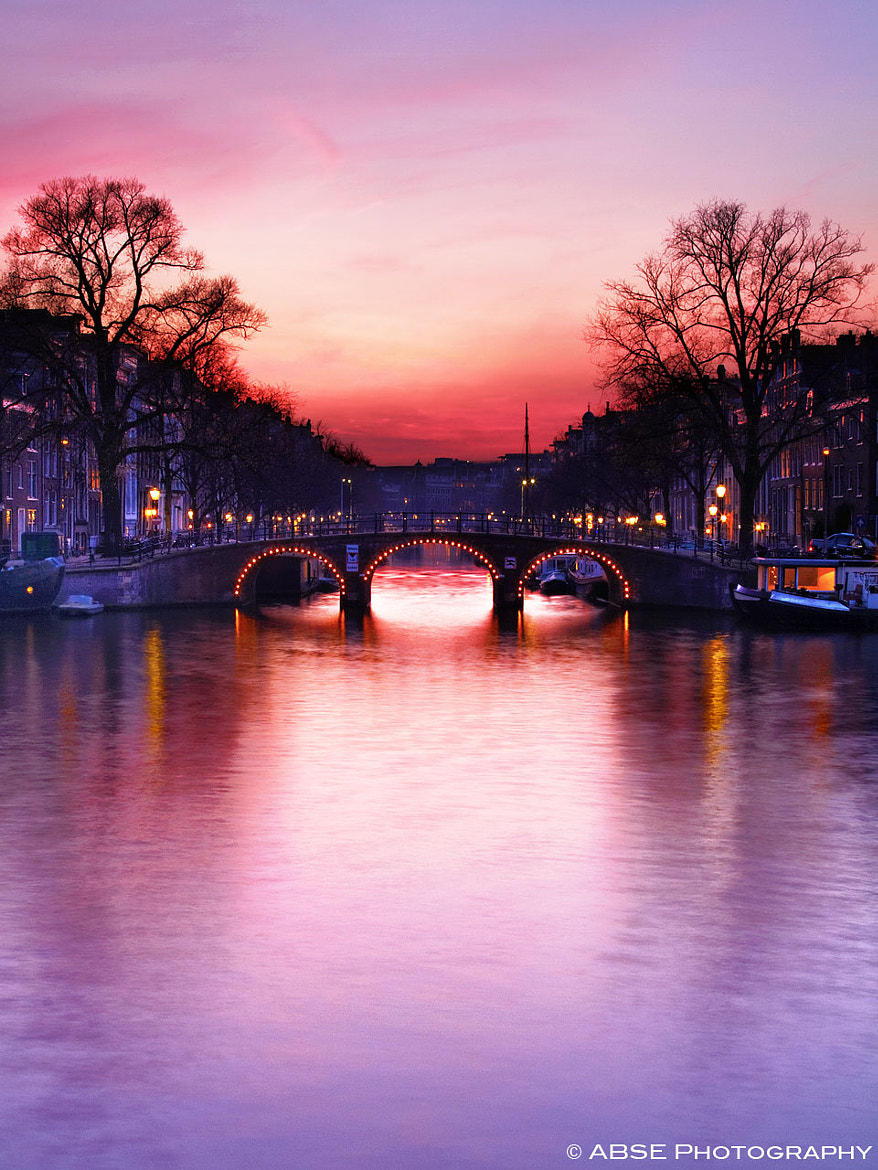 Photograph Sunset over the bridge by ABSE Photography on 500px