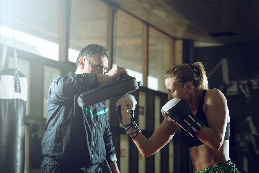 Kickboxing female training by Alen Ajan on 500px.com