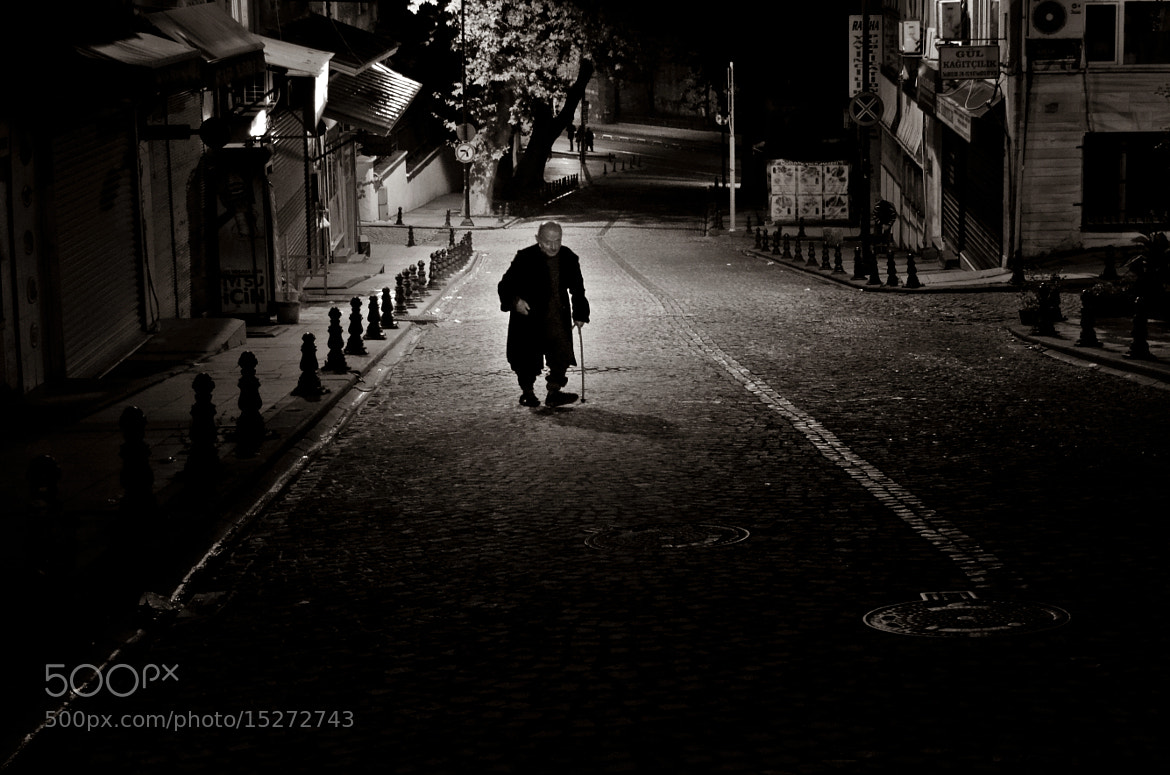 Photograph Lone Walk Into The Night by Mojca Savicki on 500px