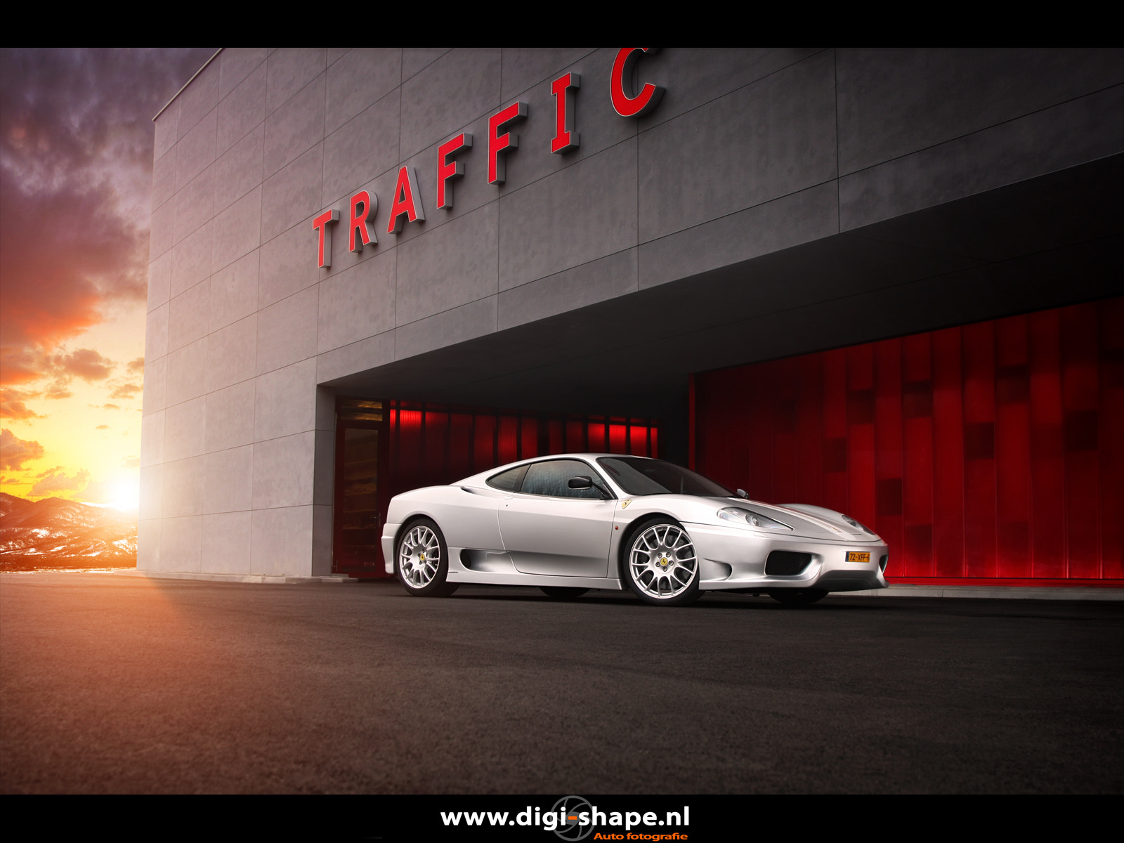 Photograph Ferrari Challenge Stradale Traffic by Peter Terpstra on 500px